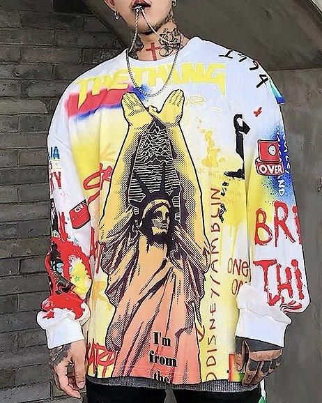 リバティグラフィティロングTシャツの画像3